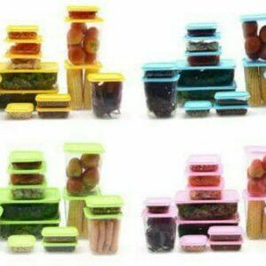 Calista Otaru 7G, Sealware Set 14 Pcs, Hijau, Biru, Pink, Oren