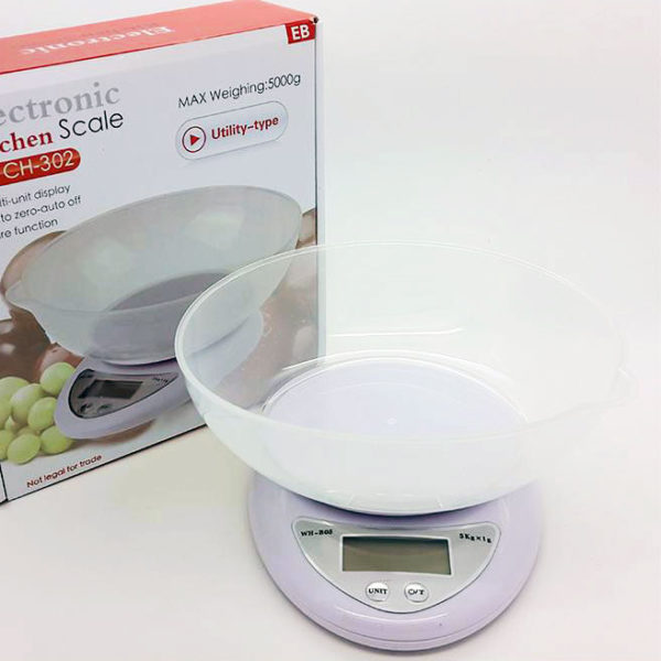 Timbangan Dapur Digital CH302, 5kg, Plus Mangkok