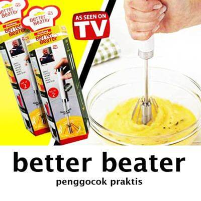 Better Beater Set 2 Pcs, Rotatable Hand Mixer, Pengocok Telur Praktis