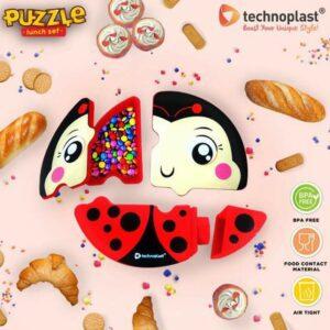 ***NEW*** Puzzle Lunch Set, Karakter Hewan Lucu
