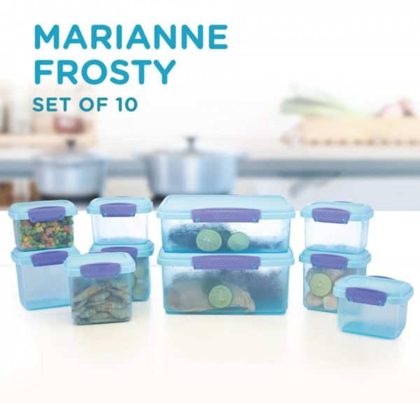 Marianne Frosty Set Of 10, Air Tight, Purple Blue