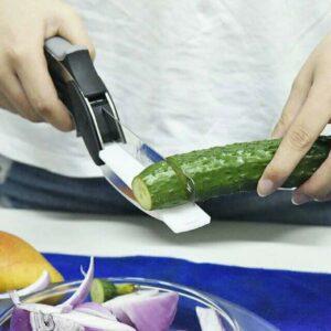 Clever Cutter 2 in 1- Alat Pemotong Sayur & Buah Praktis