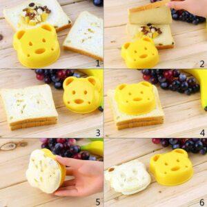Cetakan Roti Beruang, Bear Shape Sandwich Mold