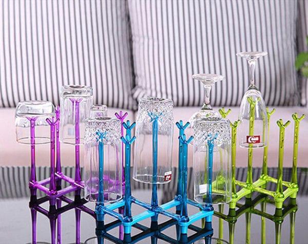 Foldable Drying Rack 7, Tirisan Gelas-Botol