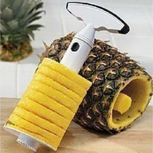 Decoupe Pineapple Easy Slicer Set 2 Pcs, Alat Pemotong-Pengupas Nanas Praktis