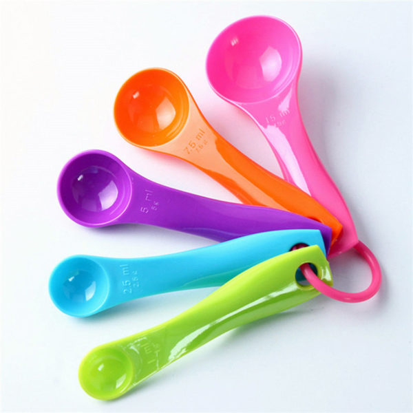 Sendok Takar Rainbow 5 in 1, Measuring Spoon (1 Set Isi 5 Pcs)