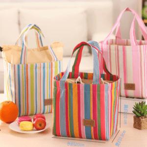 Lunch Bag – Cooler Bag, Colorful Stripes (Large)