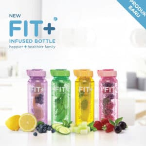 Fit+ Fruit Infuser Water Bottle Set 4 Pcs
