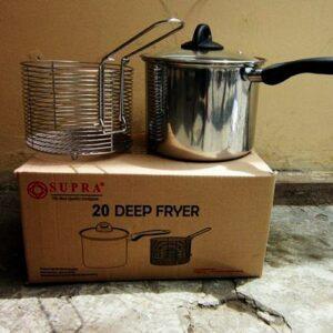 Supra Deep Fryer 20 cm, Stainless Steel
