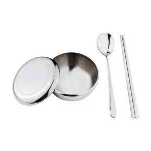 Tanica Set Alat Makan Korea - Sendok, Sumpit, Mangkuk