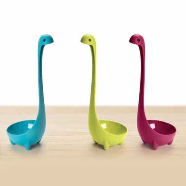 Nessie Ladle Set 2 Pcs, Sendok Kuah-Sayur Bentuk Dinosaurus, 4 Kaki Standing
