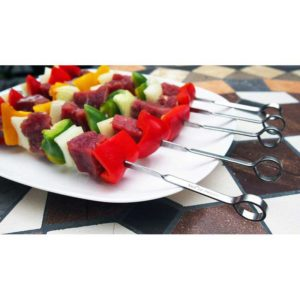 Tanica Barbeque Stainless Steel Set Tusukan Sate [23 cm/8 Pcs]