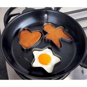 Tanica Set Cetakan Telur dan Pancake [3 Pcs] – Bentuk Bintang, Hati, Lingkaran