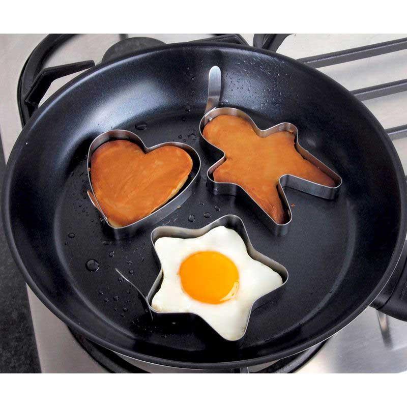 Tanica Set Cetakan Telur Dan Pancake 3 Pcs Bentuk