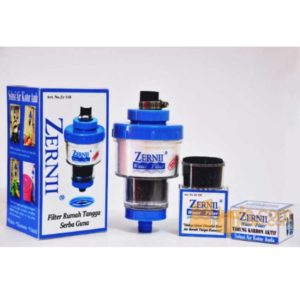 ZERNII Water Filter Set Komplit 3 Pcs - Filter Air + Refill Karbon Aktif + Kapas