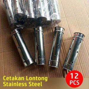 Set Cetakan Lontong Stainless Steel Isi 12 Pcs, 100% Best Quality
