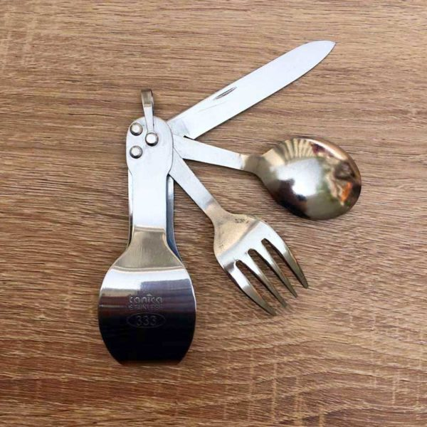 Tanica Sendok Travel 3 in 1 - Stainless Steel Travel Cutlery Set