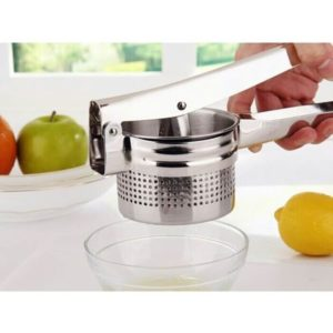 Ginka Potato Ricer & Fruit Press - Pelumat Kentang, Chrome Plated