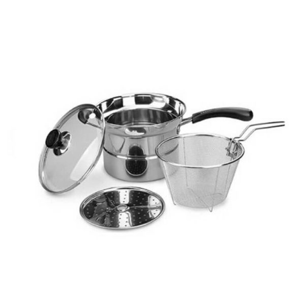 Bistro Deep Fryer 3 in 1, 21 cm, Stainless Steel