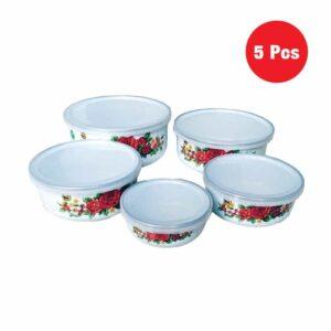 Panda Mixing Bowl Set of 5 With Lids