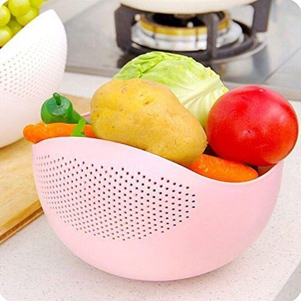 Bells Colander Set 2 Pcs - Wadah Pencuci Beras, Buah, dan Sayuran