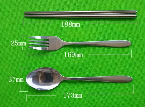 Set Alat Makan Portable 3 Pcs, Stainless Steel