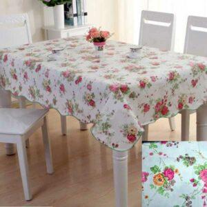 Taplak Meja Motif Printed Floral, Waterproof
