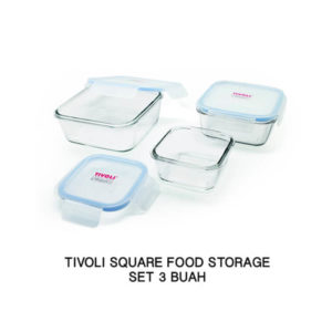 Set 3 Pcs Tivoli Wadah Kotak - Tempered Glass