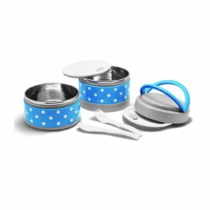 Maxim Bento Lunch Set 2 Susun, Stainless Steel, Polkadot