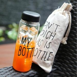 **PROMO** Tritan My Bottle, Crystal Clear Bottle 500 ml, Bonus Pouch
