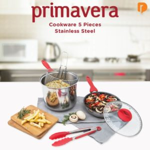 Primavera Cookware 5 Pieces Stainless Steel