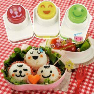 Bento Nori Puncher Set 3 Pcs, Emoji Smile Series 1