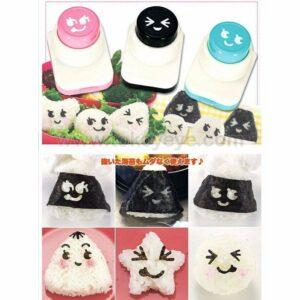Bento Nori Puncher Set 3 Pcs, Emoji Smile Series 2