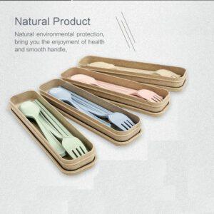 Set Alat Makan Portable, Natural Green Product
