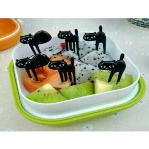 Black Cat for Bento 6 Pcs - Tusukan Buah