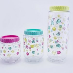 Coral Value Stack & Lock Canister Set