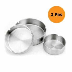 Asbak Stainless Steel Set 3 Pcs