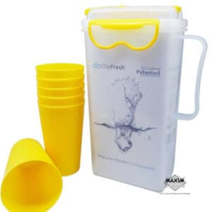 Clip Fresh Drink Set 6 Gelas + 1 Pitcher