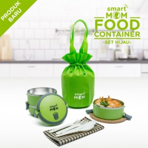 Smart Mom Food Container Set Hijau