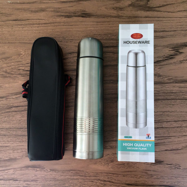 Ginka Termos Hot & Cold 1000ml - Stainless Vacuum Flask Set 1000ml