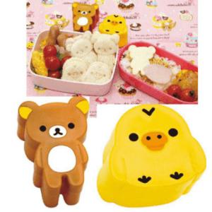 Japanese Bento Sandwich Cutter Rilakkuma Kiiroitori