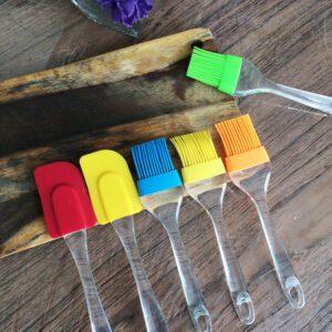 Combo Set 2 Pcs Kuas & Spatula Silikon Besar (L) - Untuk Masak, Baking, BBQ, dll