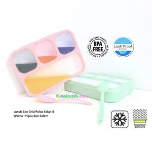 Yooyee Lunch Box 4 Sekat - Anti Bocor