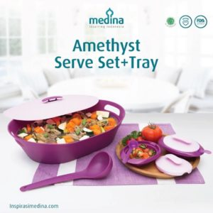 Amethyst Serve Set + Tray